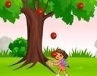 لعبة جمع التفاح من الشجرة