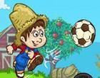 لعبة كرة قدم في المزرعة